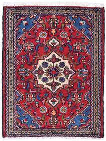 Hamadan Vloerkleed 59X88 Echt Oosters Handgeknoopt Donkerpaars/Rood (Wol, Perzië/Iran)