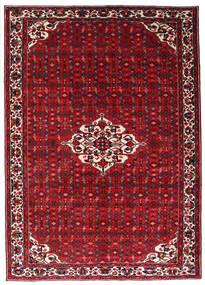 Hosseinabad Vloerkleed 215X301 Echt Oosters Handgeknoopt Donkerrood/Rood (Wol, Perzië/Iran)