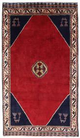 Shiraz Vloerkleed 120X205 Echt Oosters Handgeknoopt Rood/Donkerrood (Wol, Perzië/Iran)