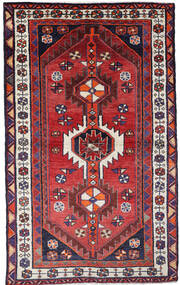 Ghashghai Vloerkleed 129X209 Echt Oosters Handgeknoopt Donkerrood/Zwart (Wol, Perzië/Iran)