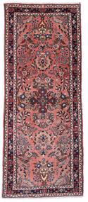 Sarough Vloerkleed 80X193 Echt Oosters Handgeknoopt Tapijtloper Donkerrood/Donkerblauw (Wol, Perzië/Iran)