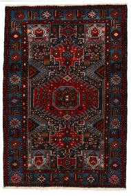 Saveh Vloerkleed 142X210 Echt Oosters Handgeknoopt Donkerrood (Wol, Perzië/Iran)