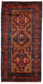Koliai Vloerkleed 130X258 Echt Oosters Handgeknoopt Tapijtloper Donkerblauw/Donkerrood (Wol, Perzië/Iran)