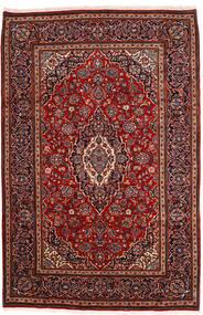 Keshan Vloerkleed 198X302 Echt Oosters Handgeknoopt Donkerrood (Wol, Perzië/Iran)