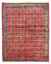 Hamadan Vloerkleed 143X182 Echt Oosters Handgeknoopt Donkerrood/Rood (Wol, Perzië/Iran)
