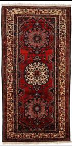 Bakhtiar Vloerkleed 150X305 Echt Oosters Handgeknoopt Tapijtloper Donkerrood (Wol, Perzië/Iran)