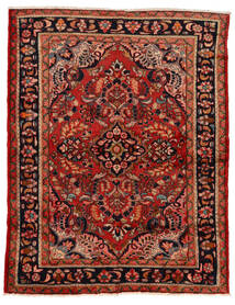 Lillian Vloerkleed 160X207 Echt Oosters Handgeknoopt Donkerrood/Roestkleur (Wol, Perzië/Iran)