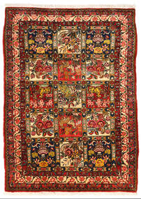 Bakhtiar Collectible Vloerkleed 108X150 Echt Oosters Handgeknoopt Donkerbruin/Roestkleur (Wol, Perzië/Iran)