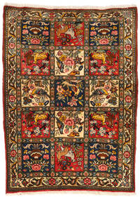 Bakhtiar Collectible Vloerkleed 107X145 Echt Oosters Handgeknoopt Zwart/Rood (Wol, Perzië/Iran)