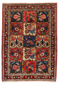 Bakhtiar Collectible Vloerkleed 111X156 Echt Oosters Handgeknoopt Donkerrood/Zwart (Wol, Perzië/Iran)