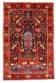 Nahavand Old Vloerkleed 165X247 Echt Oosters Handgeknoopt Donkerrood/Beige (Wol, Perzië/Iran)