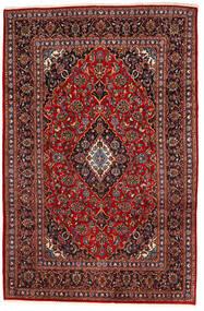Keshan Vloerkleed 195X294 Echt Oosters Handgeknoopt Donkerrood/Zwart (Wol, Perzië/Iran)