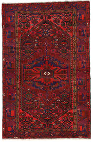 Zanjan Vloerkleed 140X213 Echt Oosters Handgeknoopt Donkerrood/Zwart (Wol, Perzië/Iran)