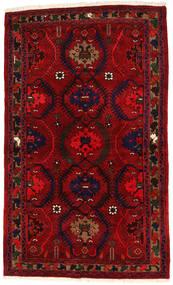Hamadan Vloerkleed 136X224 Echt Oosters Handgeknoopt Donkerrood/Rood (Wol, Perzië/Iran)