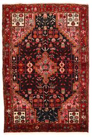 Hamadan Vloerkleed 134X199 Echt Oosters Handgeknoopt Donkerbruin/Donkerrood (Wol, Perzië/Iran)