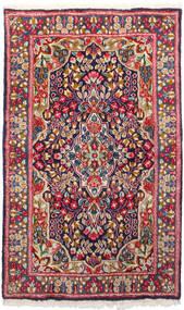 Kerman Vloerkleed 91X150 Echt Oosters Handgeknoopt Donkerrood/Donkerpaars (Wol, Perzië/Iran)