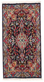 Kerman Vloerkleed 58X114 Echt Oosters Handgeknoopt Donkerrood/Zwart (Wol, Perzië/Iran)