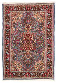 Kerman Vloerkleed 119X174 Echt Oosters Handgeknoopt Donkerrood/Donkerbruin (Wol, Perzië/Iran)