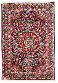 Kerman Vloerkleed 123X180 Echt Oosters Handgeknoopt Donkerpaars/Roestkleur (Wol, Perzië/Iran)