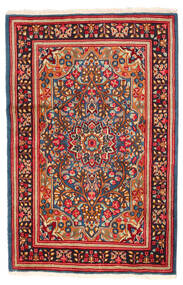 Kerman Vloerkleed 121X185 Echt Oosters Handgeknoopt Rood/Donkerrood (Wol, Perzië/Iran)