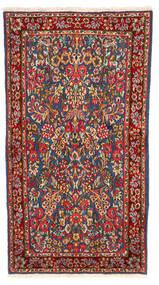 Kerman Vloerkleed 113X213 Echt Oosters Handgeknoopt Donkergrijs/Donkerrood (Wol, Perzië/Iran)
