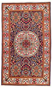Kerman Vloerkleed 142X241 Echt Oosters Handgeknoopt Beige/Donkerrood (Wol, Perzië/Iran)