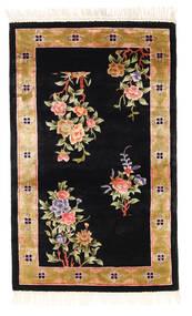 China Art Zijde 120 Line Vloerkleed 91X152 Echt Oosters Handgeknoopt Zwart/Bruin ( China)