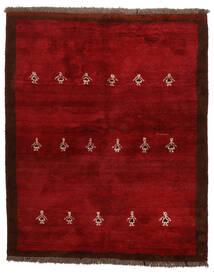 Gabbeh Perzisch Vloerkleed 155X190 Echt Modern Handgeknoopt Donkerrood/Rood (Wol, Perzië/Iran)