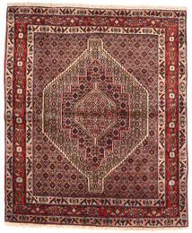 Senneh Vloerkleed 127X152 Echt Oosters Handgeknoopt Donkerrood/Lichtbruin (Wol, Perzië/Iran)