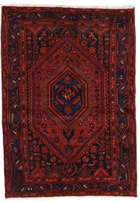 Zanjan Vloerkleed 139X200 Echt Oosters Handgeknoopt Donkerrood/Roestkleur (Wol, Perzië/Iran)