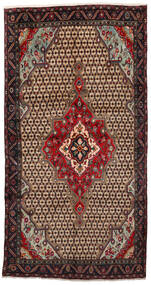 Koliai Vloerkleed 160X305 Echt Oosters Handgeknoopt Tapijtloper Lichtbruin/Zwart (Wol, Perzië/Iran)