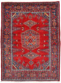 Wiss Vloerkleed 160X222 Echt Oosters Handgeknoopt Roestkleur/Donkerrood (Wol, Perzië/Iran)