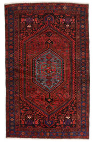 Zanjan Vloerkleed 139X224 Echt Oosters Handgeknoopt Donkerrood (Wol, Perzië/Iran)