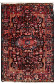Nahavand Vloerkleed 152X245 Echt Oosters Handgeknoopt Donkerrood/Zwart (Wol, Perzië/Iran)
