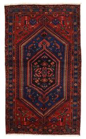 Zanjan Vloerkleed 139X239 Echt Oosters Handgeknoopt Donkerblauw/Donkerrood (Wol, Perzië/Iran)