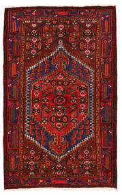 Zanjan Vloerkleed 136X218 Echt Oosters Handgeknoopt Donkerrood/Donkerpaars (Wol, Perzië/Iran)