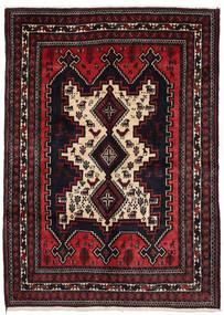 Afshar Vloerkleed 156X215 Echt Oosters Handgeknoopt Donkerrood (Wol, Perzië/Iran)