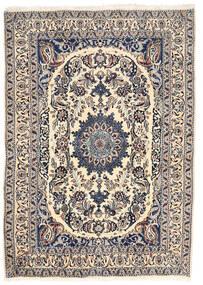 Nain Vloerkleed 162X228 Echt Oosters Handgeknoopt Lichtgrijs/Beige (Wol, Perzië/Iran)
