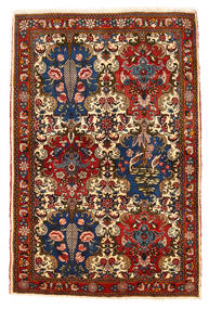 Bakhtiar Collectible Vloerkleed 111X166 Echt Oosters Handgeknoopt Donkerrood/Donkerbruin (Wol, Perzië/Iran)