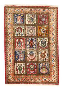 Bakhtiar Collectible Vloerkleed 105X150 Echt Oosters Handgeknoopt Rood/Donkergrijs (Wol, Perzië/Iran)