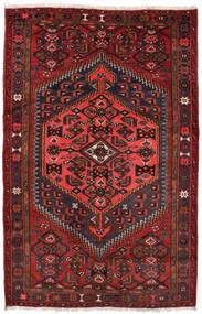Zanjan Vloerkleed 127X198 Echt Oosters Handgeknoopt Donkerrood/Zwart (Wol, Perzië/Iran)