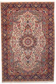 Kerman Vloerkleed 201X301 Echt Oosters Handgeknoopt Donkerrood/Beige (Wol, Perzië/Iran)
