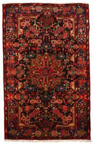 Nahavand Old Vloerkleed 160X250 Echt Oosters Handgeknoopt Donkerbruin/Roestkleur (Wol, Perzië/Iran)