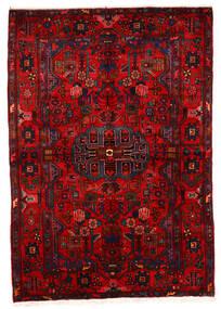 Nahavand Old Vloerkleed 162X243 Echt Oosters Handgeknoopt Donkerrood/Roestkleur (Wol, Perzië/Iran)