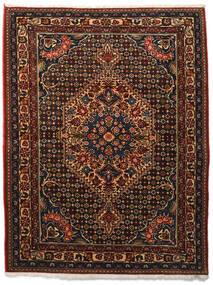 Bakhtiar Collectible Vloerkleed 113X144 Echt Oosters Handgeknoopt Donkerbruin/Donkerrood (Wol, Perzië/Iran)