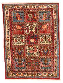 Bakhtiar Collectible Vloerkleed 106X140 Echt Oosters Handgeknoopt Roestkleur/Donkerrood (Wol, Perzië/Iran)