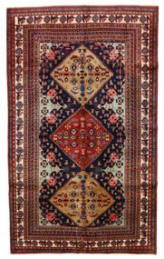 Ardebil Vloerkleed 153X253 Echt Oosters Handgeknoopt Donkerrood/Zwart (Wol, Perzië/Iran)