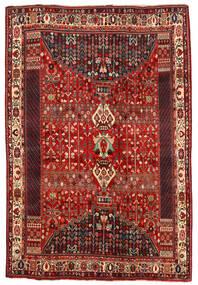Shiraz Vloerkleed 194X290 Echt Oosters Handgeknoopt Donkerrood/Roestkleur (Wol, Perzië/Iran)