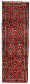 Koliai Vloerkleed 90X275 Echt Oosters Handgeknoopt Tapijtloper Donkerrood/Donkerbruin (Wol, Perzië/Iran)