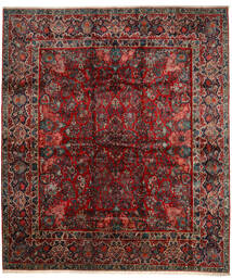 Sarough Vloerkleed 420X485 Echt Oosters Handgeknoopt Donkerrood/Donkerbruin Groot (Wol, Perzië/Iran)